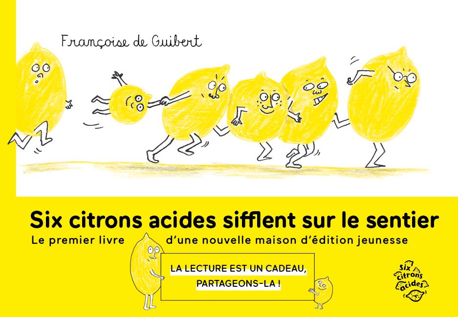 Six citrons acides - couverture avec bandeau