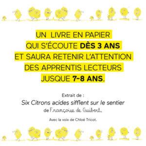 Six Citrons acides - lecture par Chloé