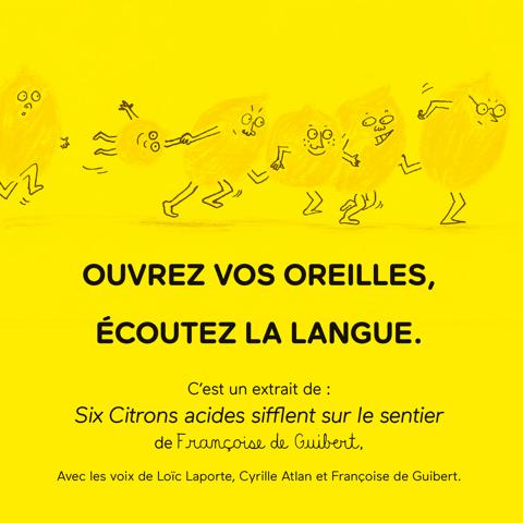 Six Citrons acides - lecture par Françoise de Guibert