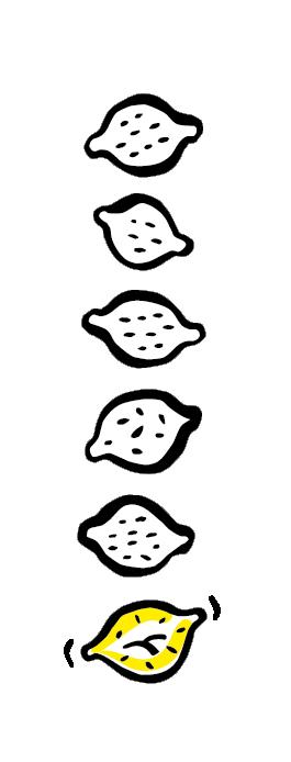 Six Citrons acides - logo noir vertical