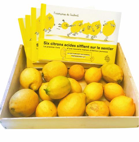 Six citrons acides - panier de citrons